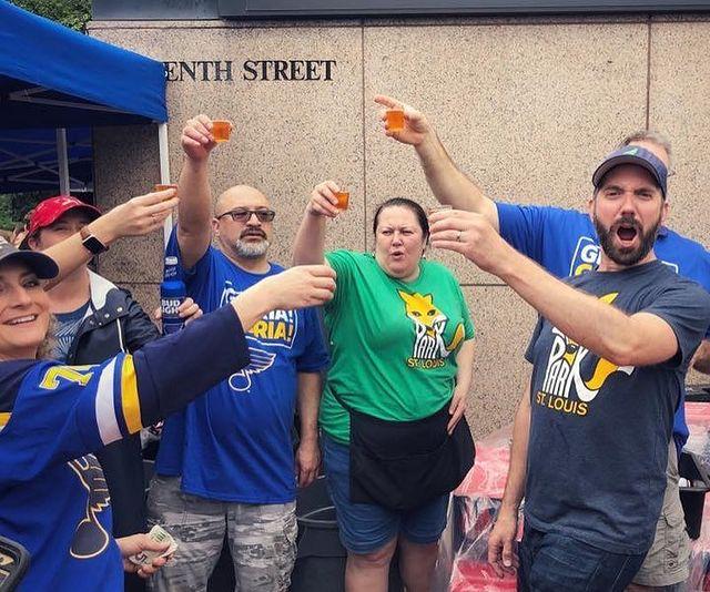 Fox Park volunteers toast